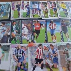 Cromos de Fútbol: LOTE DE 25 CROMOS / CARTAS DE FUTBOL AÑOS 2003 HASTA 2009 .. Lote 262917975