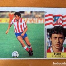 Cromos de Fútbol: RUBIO AT MADRID 86-87 ESTE NUNCA PEGADO. Lote 262918810