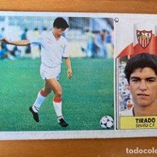 Cromos de Fútbol: TIRADO SEVILLA 86-87 ESTE NUNCA PEGADO. Lote 262918895