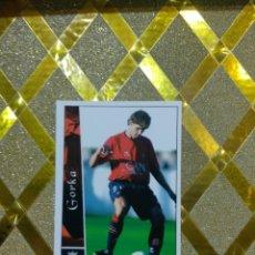 Cromos de Fútbol: CROMO DE FUTBOL GORKA OSASUNA NUMERO 592 + LAS FICHAS DE LA LIGA 2003 MUNDICROMO *. Lote 263097070