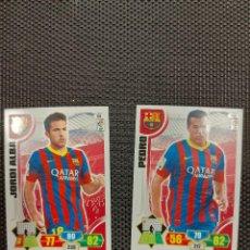 Cromos de Fútbol: CROMOS ADRENALYN PANINI 2013-14. J. ALBA/PEDRO. Lote 263191150