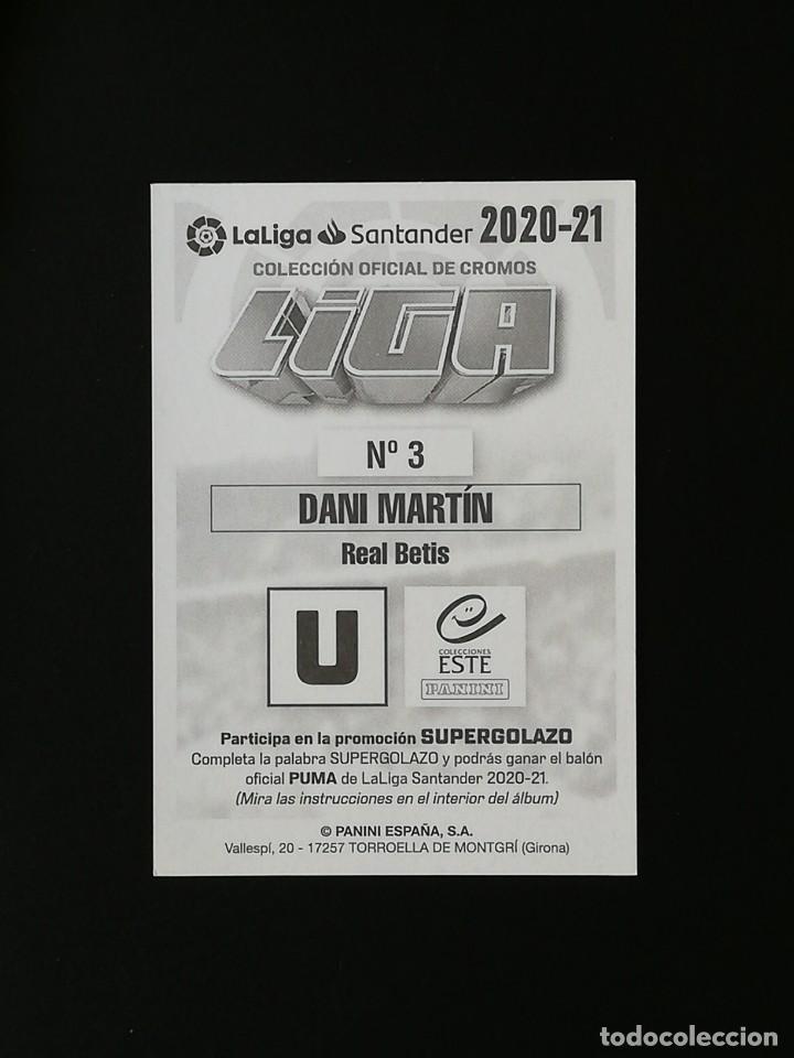Cromos de Fútbol: BET03 3 DANI MARTIN REAL BETIS 2020 2021 EDICIONES ESTE 20 21 PANINI - Foto 2 - 263620545