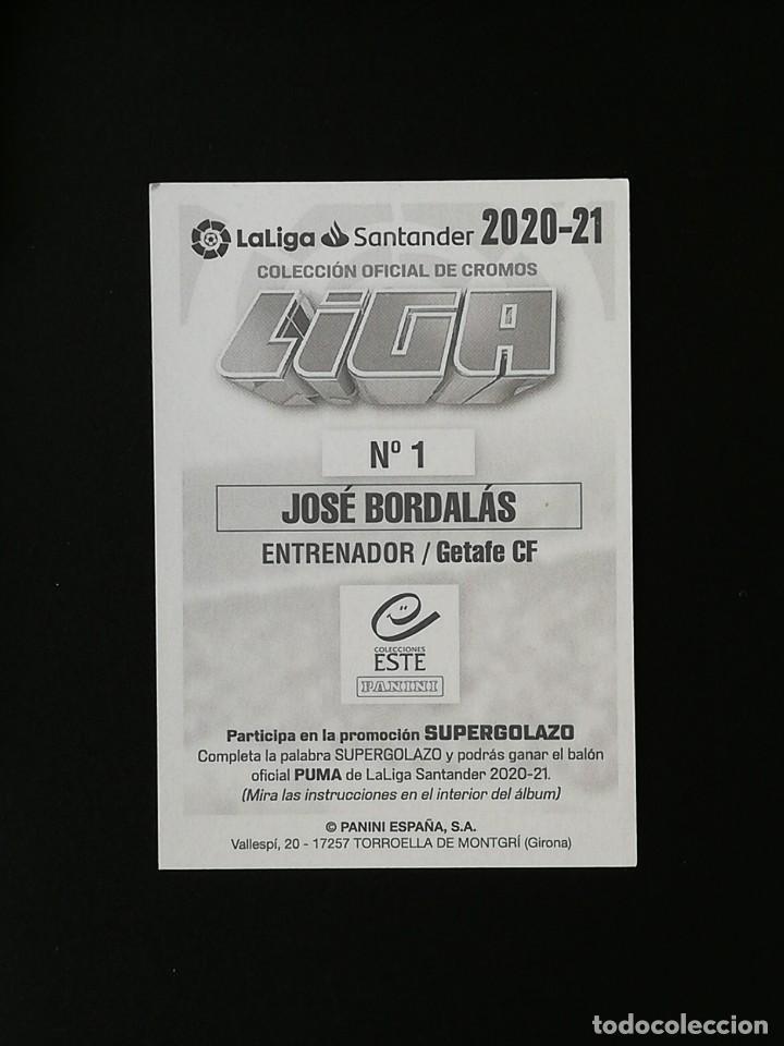 Cromos de Fútbol: GET01 1 JOSE BORDALAS GETAFE 2020 2021 EDICIONES ESTE 20 21 PANINI - Foto 2 - 263620800