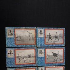 Cromos de Fútbol: LOTE DE 6 CROMOS DE FUTBOL (DEL EUROPA Y FUTBOL CLUB BARCELONA) CHOCOLATES SULTANA - CAFÉS DEBRAY. Lote 263726665