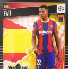 Cromos de Fútbol: 77 ANSU FATI - FC BARCELONA - UCL TOPPS MATCH ATTAX 101 - 2021. Lote 264455299