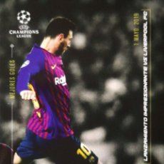 Cromos de Fútbol: LIONEL MESSI - FC BARCELONA - MEJORES GOLES 1 MAYO 2019 - UCL TOPPS DESIGNED BY MESSI 2020. Lote 264475979