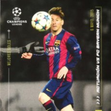 Cromos de Fútbol: LIONEL MESSI - FC BARCELONA - MEJORES GOLES 6 MAYO 2015 - UCL TOPPS DESIGNED BY MESSI 2020. Lote 264476039