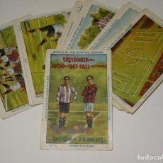 Cromos de Fútbol: COLECCION COMPLETA - ENSEÑANZA DEL JUEGO DE FOOT-BALL ASOCIACION , COLECCION DE 25 CROMOS , AÑOS 20. Lote 265460574