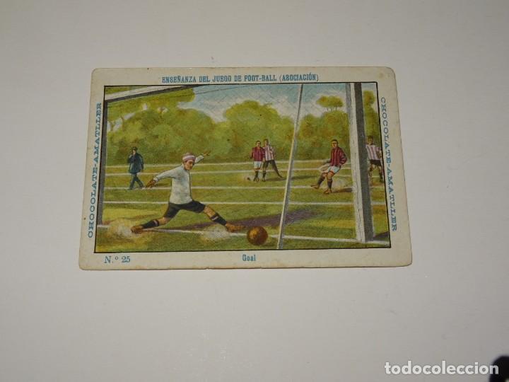 Cromos de Fútbol: COLECCION COMPLETA - ENSEÑANZA DEL JUEGO DE FOOT-BALL ASOCIACION , COLECCION DE 25 CROMOS , AÑOS 20 - Foto 8 - 265460574