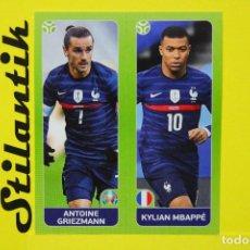Cromos de Fútbol: CROMO 597 A 597 B UEFA EURO 2020 - TOURNAMENT EDITION - ANTOINE GRIEZMANN Y KYLIAN MBAPPÉ - PANINI. Lote 265532569