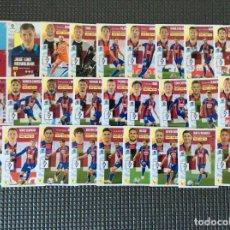 Cromos de Fútbol: ESTE 27 CROMOS (PLANTILLA COMPLETA)+LOS 4 CHICLES EIBAR LIGA 2020 2021 ESTE PANINI LEER. Lote 265673854