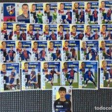 Cromos de Fútbol: ESTE 30 CROMOS (PLANTILLA COMPLETA)+LOS 4 CHICLES HUESCA LIGA 2020 2021 ESTE PANINI LEER. Lote 265694609
