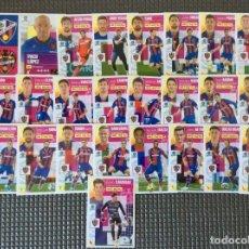 Cromos de Fútbol: ESTE 25 CROMOS (PLANTILLA COMPLETA)+LOS 4 CHICLES LEVANTE LIGA 2020 2021 ESTE PANINI LEER. Lote 265699999