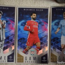 Cromos de Fútbol: LOTE GB 2-3-4 DYBALA SALAH DE BRUYNE GAME BREAKERS TOPPS BEST OF THE BEST 2021 UCL CARDS XL NEW. Lote 266095263