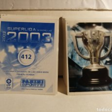 Cromos de Fútbol: LOTE DE 196 CROMOS SUPERLIGA DE ESTRELLAS 2002 2003 02 03 NUEVOS Y SIN REPETIR. Lote 266710088