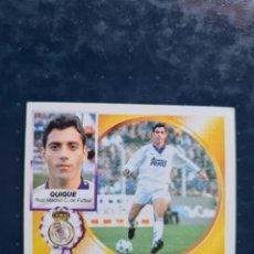 Cromos de Futebol: QUIQUE - FICHAJE 8 - DOBLE VERSION - REAL MADRID - 1994 1995 94 95 - EDICIONES ESTE - NUNCA PEGADO. Lote 267077054