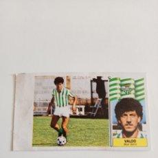 Cromos de Fútbol: RAREZA CROMO VALDO BAJA NUNCA PEGADO LIGA 86-87. Lote 267378029