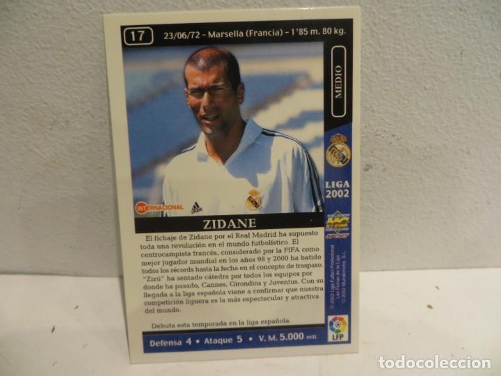 Cromos de Fútbol: MUNDICROMO 2001 2002 01 02 - 17 ZIDANE ( ROOKIE ) - REAL MADRID,PERFECTO ESTADO - Foto 5 - 267484789