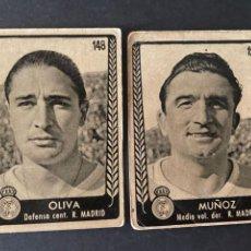 Cromos de Fútbol: LOTE DE 2 CROMOS DE FUTBOL DEL REAL MADRID (OLIVA Y MUÑOZ). Lote 267574094