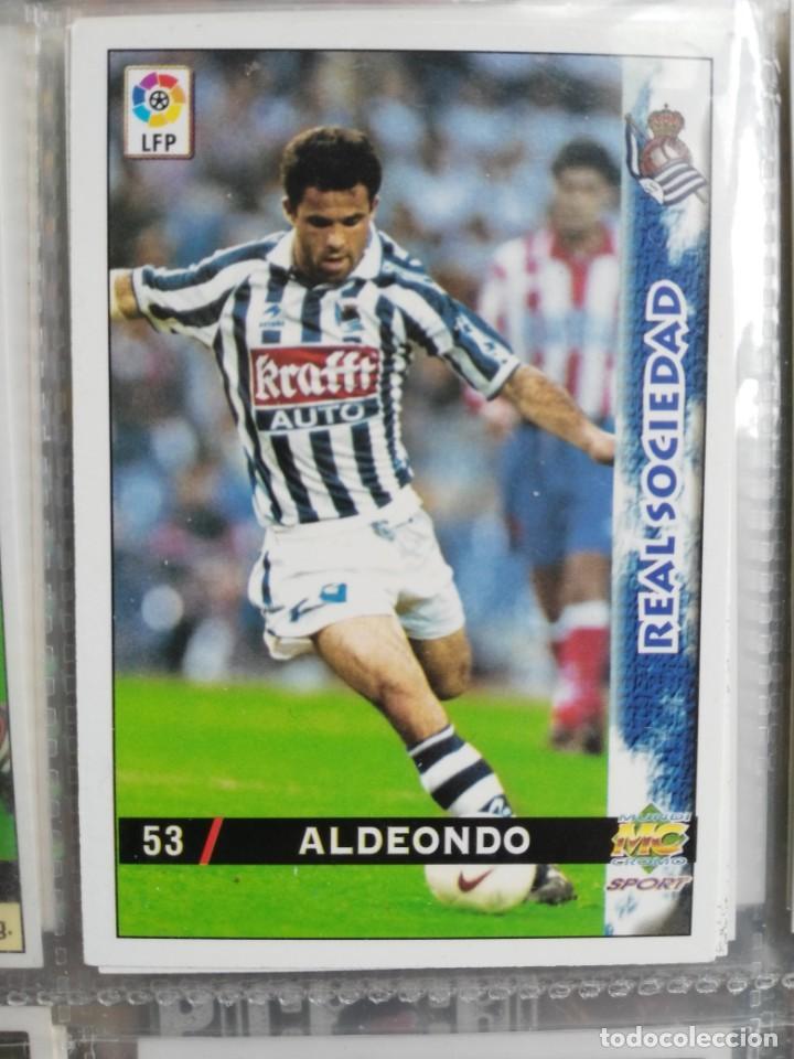 53 ALDEONDO FICHA CORREGIDA LAS FICHAS DE LA LIGA MUNDICROMO 98/99 MC CARD 1998/1999 (Coleccionismo Deportivo - Álbumes y Cromos de Deportes - Cromos de Fútbol)