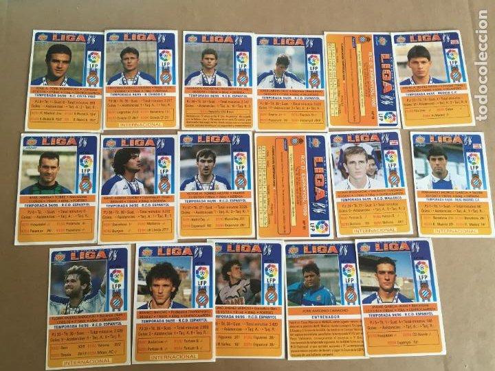Cromos de Fútbol: real club deportivo español lote 17 cromos coleccion liga 95 96 nunca pegados - Foto 2 - 268619509