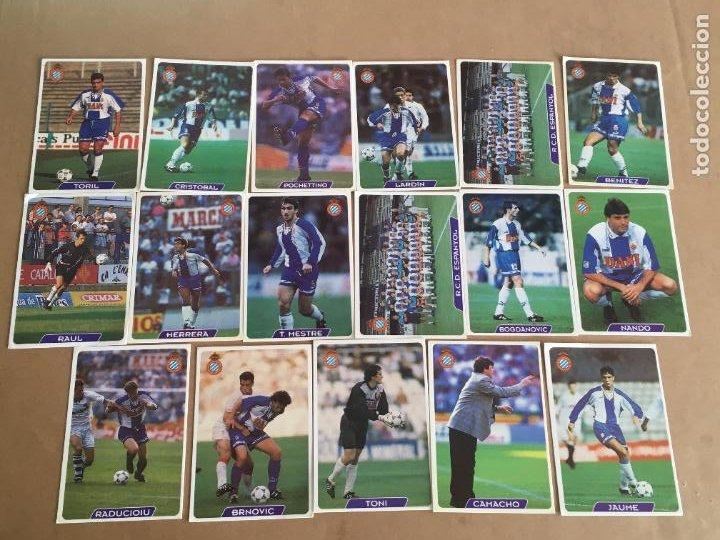REAL CLUB DEPORTIVO ESPAÑOL LOTE 17 CROMOS COLECCION LIGA 95 96 NUNCA PEGADOS (Coleccionismo Deportivo - Álbumes y Cromos de Deportes - Cromos de Fútbol)