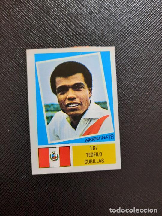 TEOFILO CUBILLAS PERU FHER ARGENTINA MUNDIAL 1978 CROMO FUTBOL 78 - DESPEGADO - 167 (Coleccionismo Deportivo - Álbumes y Cromos de Deportes - Cromos de Fútbol)