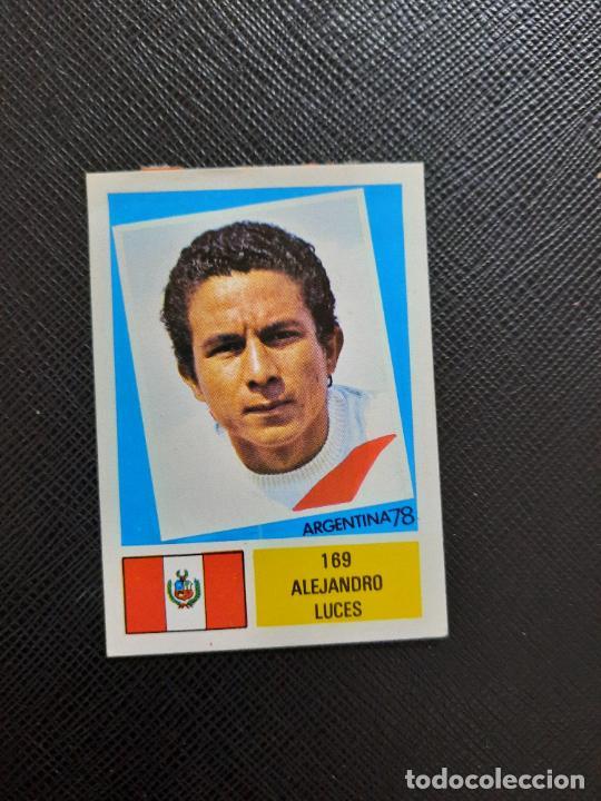 ALEJANDRO LUCES PERU FHER ARGENTINA MUNDIAL 1978 CROMO FUTBOL 78 - DESPEGADO - 169 (Coleccionismo Deportivo - Álbumes y Cromos de Deportes - Cromos de Fútbol)