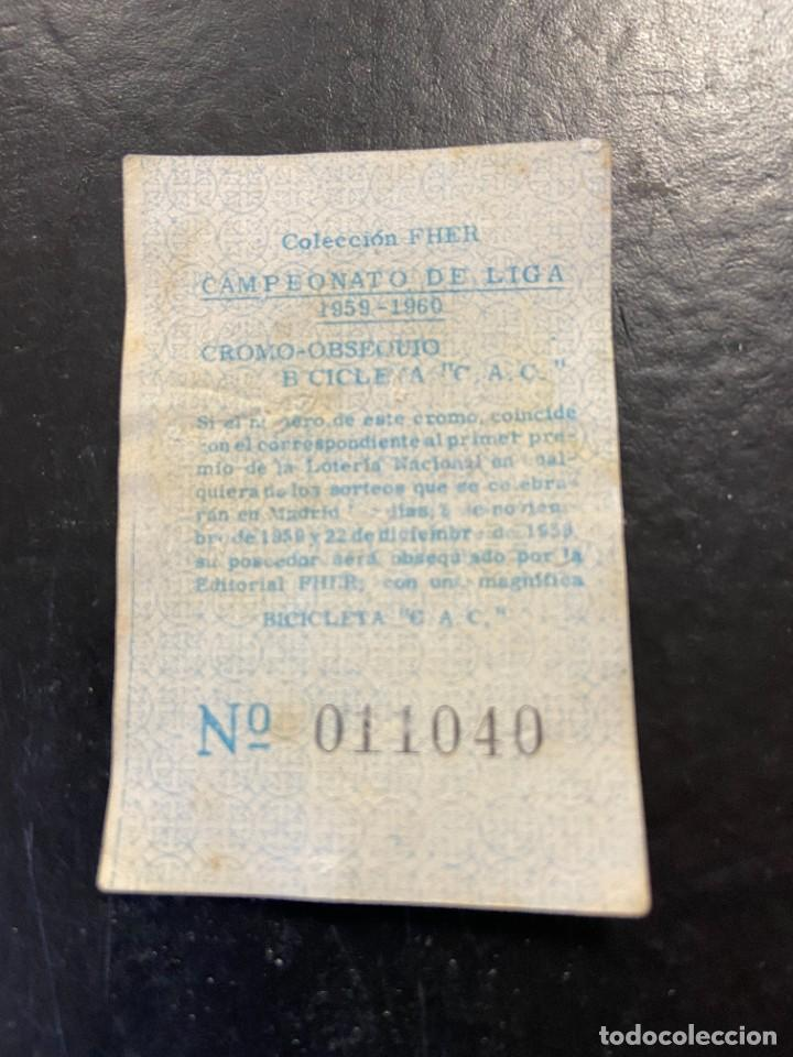 Cromos de Fútbol: vicente español fher 1959 1960 59 60 - Foto 2 - 268727624