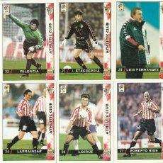 Cartes à collectionner de Football: ATHLETIC CLUB DE BILBAO 17 DIFERENTES MUNDICROMO 1998 1999 . NUEVOS DE SOBRE. LISTADO. 98 99. Lote 268732299