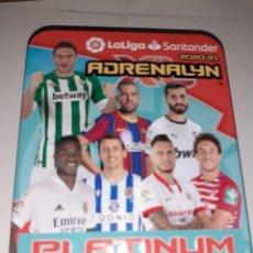 Cromos de Fútbol: LATA PEQUEÑA DE METAL (VACIA) ADRENALYN XL PLATINUM, TEMPORADA 2020/21, EN PERFECTO ESTADO. Lote 268904894