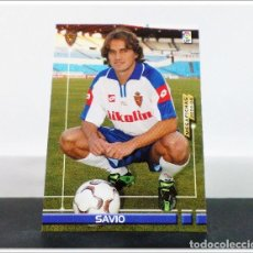 Cromos de Fútbol: MEGAFICHAS 2003 2004 03 04 PANINI SAVIO Nº 456 FICHAJE ZARAGOZA CARD ALBUM LIGA MEGACRACKS. Lote 268905134
