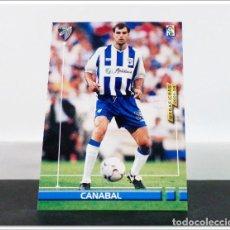 Cromos de Fútbol: MEGAFICHAS 2003 2004 03 04 PANINI CANABAL Nº 180 MÁLAGA CARD ALBUM LIGA FÚTBOL MEGACRACKS. Lote 268905144