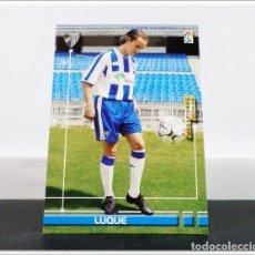 Cromos de Fútbol: MEGAFICHAS 2003 2004 03 04 PANINI LUQUE Nº 177 MÁLAGA CARD ALBUM LIGA FÚTBOL MEGACRACKS. Lote 268905159