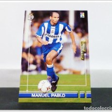 Cromos de Fútbol: MEGAFICHAS 2003 2004 03 04 PANINI MANUEL PABLO Nº 111 DEPORTIVO CORUÑA CARD ALBUM LIGA MEGACRACKS. Lote 268905249