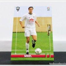 Cromos de Fútbol: MEGAFICHAS 2003 2004 03 04 PANINI MIKEL Nº 18 ALBACETE CARD ALBUM LIGA MEGACRACKS. Lote 268905279