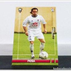 Cromos de Fútbol: MEGAFICHAS 2003 2004 03 04 PANINI PEÑA Nº 7 ALBACETE CARD ALBUM LIGA MEGACRACKS. Lote 268905304