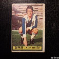 Cromos de Fútbol: SUÁREZ RCD ESPAÑOL ESTE 1974-1975 74-75 SIN PEGAR VER FOTOS. PEDIDO MÍNIMO 3 €.. Lote 268907084