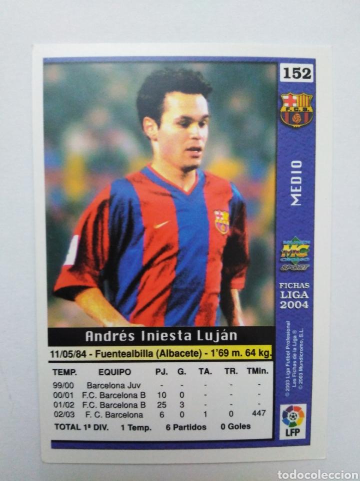 Cromos de Fútbol: Iniesta cromo de fútbol, F.C.BARCELONA número 152, mundicromo ficha liga 2003-2004 ( 03-04 ) - Foto 6 - 268951609