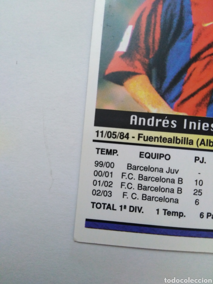 Cromos de Fútbol: Iniesta cromo de fútbol, F.C.BARCELONA número 152, mundicromo ficha liga 2003-2004 ( 03-04 ) - Foto 8 - 268951609
