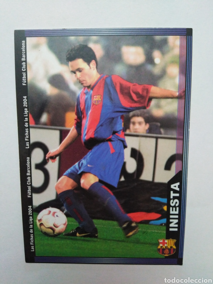 INIESTA CROMO DE FÚTBOL, F.C.BARCELONA NÚMERO 152, MUNDICROMO FICHA LIGA 2003-2004 ( 03-04 ) (Coleccionismo Deportivo - Álbumes y Cromos de Deportes - Cromos de Fútbol)