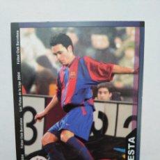 Cromos de Fútbol: INIESTA CROMO DE FÚTBOL, F.C.BARCELONA NÚMERO 152, MUNDICROMO FICHA LIGA 2003-2004 ( 03-04 ). Lote 268951609