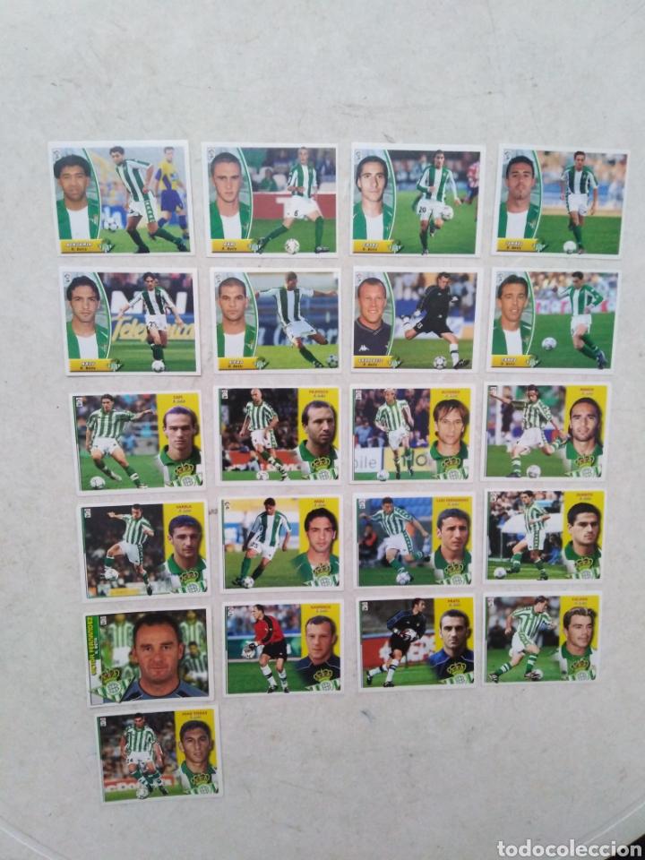 Cromos de Fútbol: Lote de 21 cromos ( 8 cromos liga 2003-2004 y 13 cromos liga 2002-2003 ) Real Betis Balompie - Foto 2 - 268953449