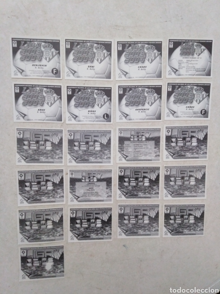 Cromos de Fútbol: Lote de 21 cromos ( 8 cromos liga 2003-2004 y 13 cromos liga 2002-2003 ) Real Betis Balompie - Foto 7 - 268953449