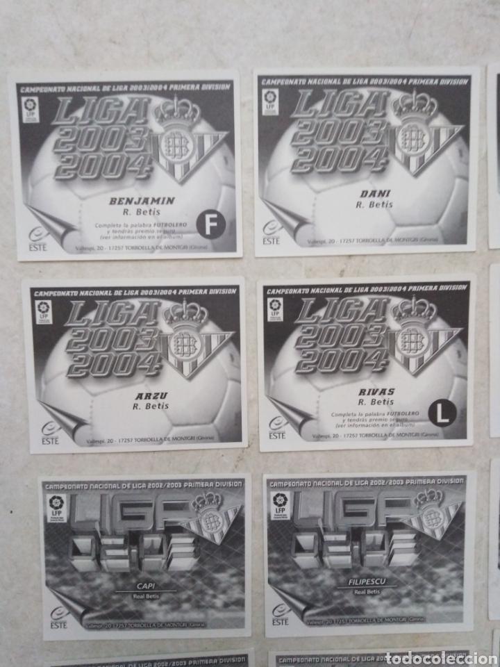 Cromos de Fútbol: Lote de 21 cromos ( 8 cromos liga 2003-2004 y 13 cromos liga 2002-2003 ) Real Betis Balompie - Foto 8 - 268953449