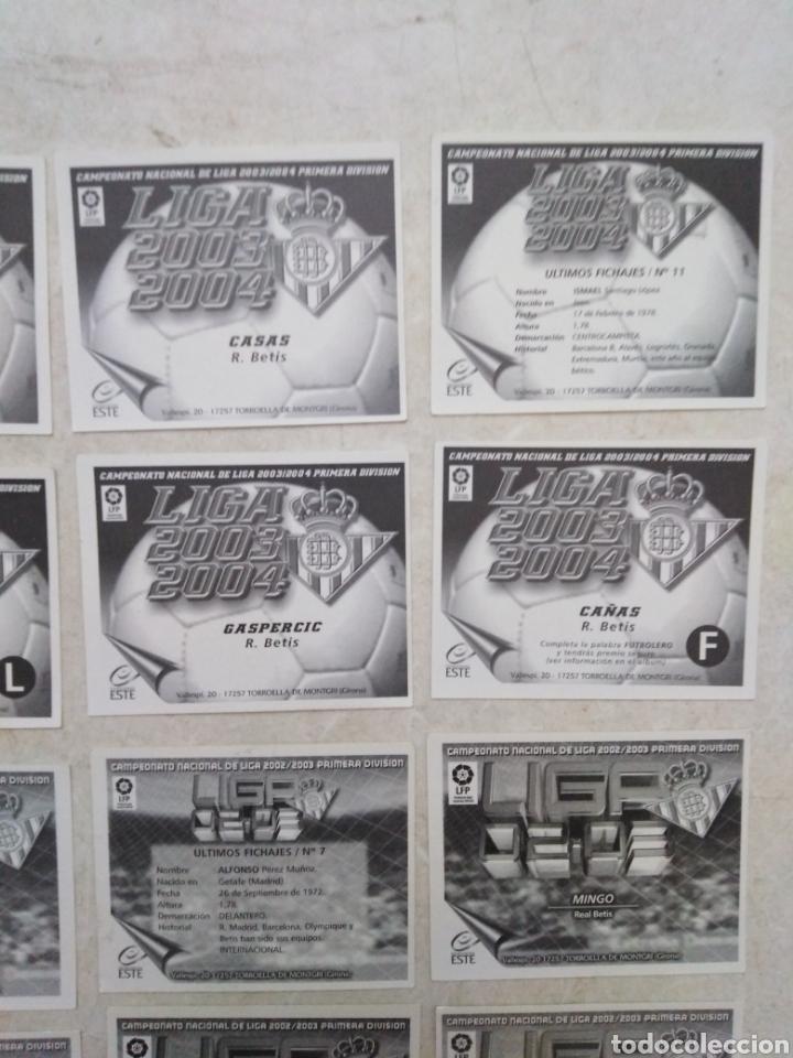 Cromos de Fútbol: Lote de 21 cromos ( 8 cromos liga 2003-2004 y 13 cromos liga 2002-2003 ) Real Betis Balompie - Foto 9 - 268953449