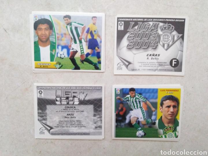 LOTE DE 21 CROMOS ( 8 CROMOS LIGA 2003-2004 Y 13 CROMOS LIGA 2002-2003 ) REAL BETIS BALOMPIE (Coleccionismo Deportivo - Álbumes y Cromos de Deportes - Cromos de Fútbol)