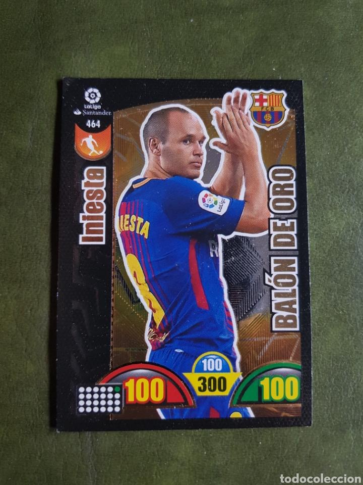CROMO INIESTA - BALÓN DE ORO (Coleccionismo Deportivo - Álbumes y Cromos de Deportes - Cromos de Fútbol)