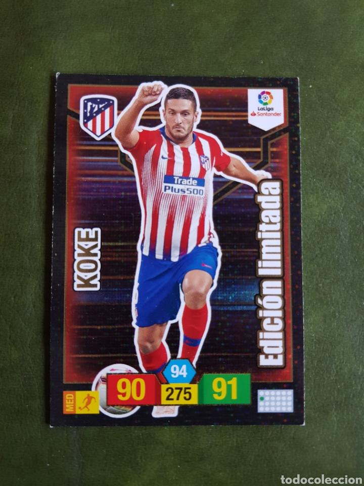 CROMO KOKE - ATLÉTICO DE MADRID (Coleccionismo Deportivo - Álbumes y Cromos de Deportes - Cromos de Fútbol)