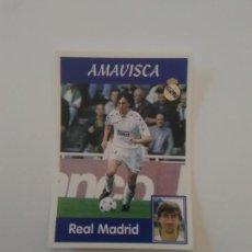 Cromos de Fútbol: 12 AMAVISCA REAL MADRID ESTAMPA CROMO STICKER LIGA FÚTBOL PANINI 1997-1998 97-98. Lote 268997604
